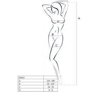 Passion Woman Bs012 Bodystocking Blanco Talla Unica