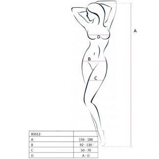 Passion Woman Bs013 Bodystocking Blanco Talla Unica