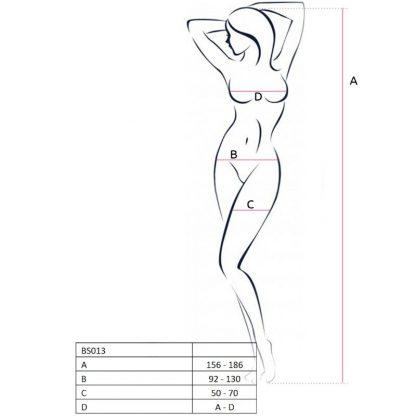 Passion Woman Bs013 Bodystocking Rojo Talla Unica