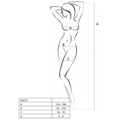 Passion Woman Bs014 Bodystocking Blanco Talla Unica
