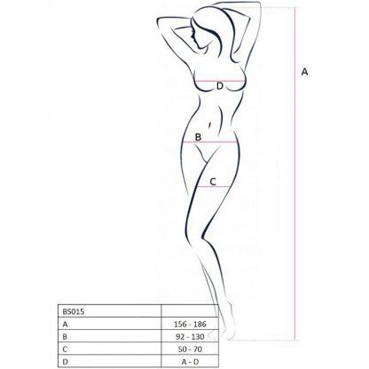 PASSION WOMAN BS015 BODYSTOCKING NEGRO TALLA UNICA