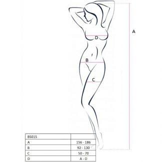 Passion Woman Bs015 Bodystocking Blanco Talla Unica