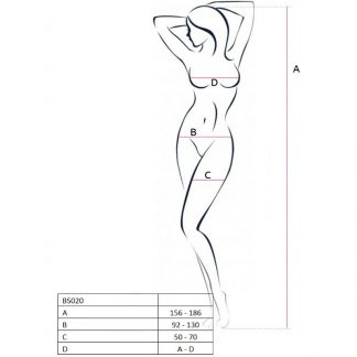 Passion Woman Bs020 Bodystocking Blanco Talla Unica
