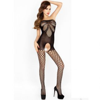 Passion Woman Bs021 Bodystocking Negro Talla Unica