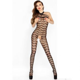 Passion Woman Bs022 Bodystocking Negro Talla Unica