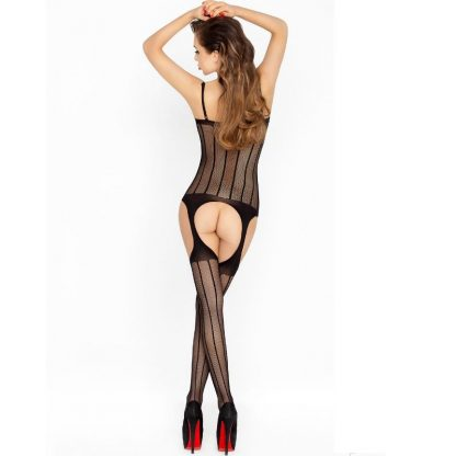 Passion Woman Bs023 Bodystocking Negro Talla Unica