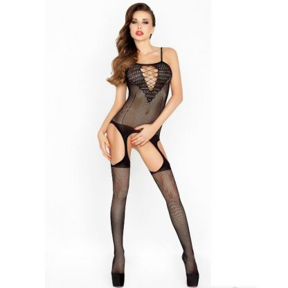 Passion Woman Bs024 Bodystocking Negro Talla Unica