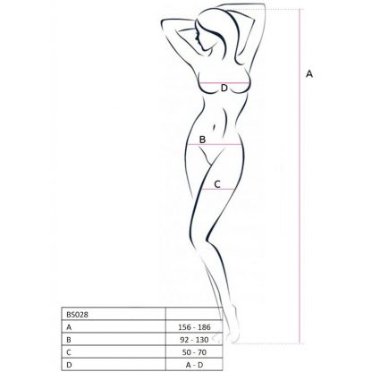 Passion Woman Bs028 Bodystocking Negro Talla Unica