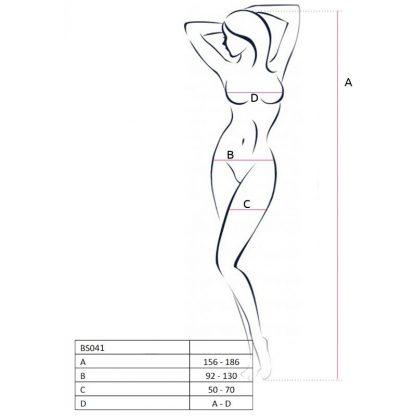 Passion Woman Bs041 Bodystocking Negro Talla Unica