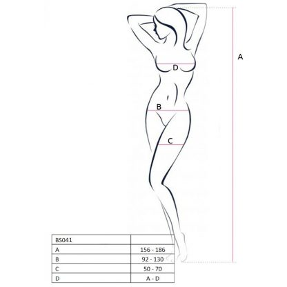 Passion Woman Bs041 Bodystocking Blanco Talla Unica