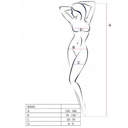 Passion Woman Bs045 Bodystocking Negro Talla Unica