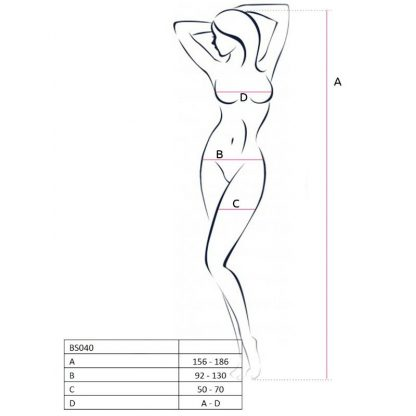 Passion Woman Bs040 Bodystocking Negro Talla Unica