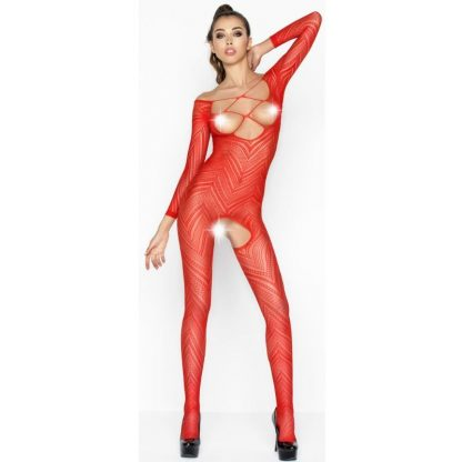 PASSION WOMAN BS040 BODYSTOCKING ROJO TALLA UNICA