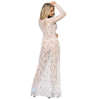 Subblime Vestido Largo Manga Larga Blanco