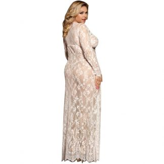 SUBBLIME QUEEN PLUS VESTIDO LARGO MANGA LARGA BLANCO