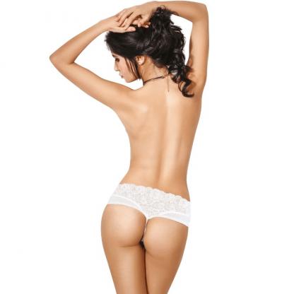 Le Frivole – 04370 Panties Con Abertura Blanco
