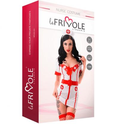 Le Frivole – 02196 Disfraz Enfermera 4 Piezas