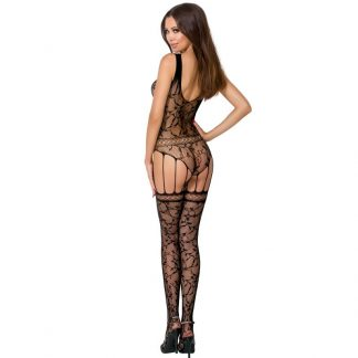 Passion Woman Bs051 Bodystocking Negro Talla Unica