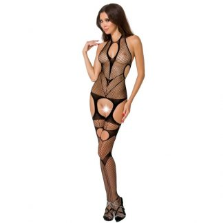 Passion Woman Bs053 Bodystocking Negro Talla Unica