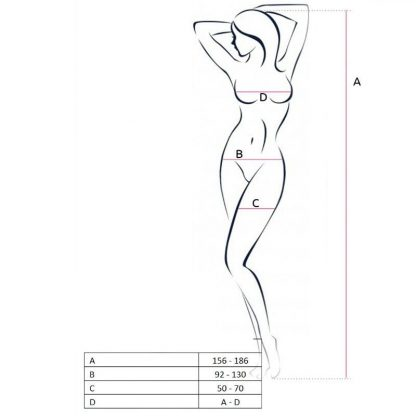 Passion Woman Bs055 Bodystocking Blanco Talla Unica