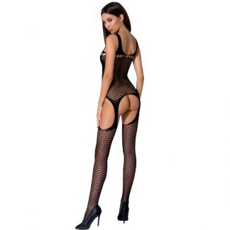 Passion Woman Bs057 Bodystocking Negro Talla Unica