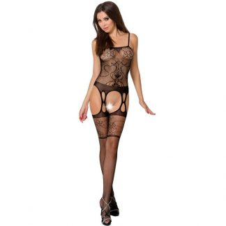 Passion Woman Bs050 Bodystocking Negro Talla Unica