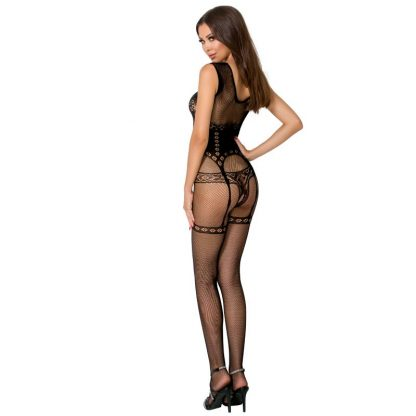 Passion Woman Bs052 Bodystocking Negro Talla Unica