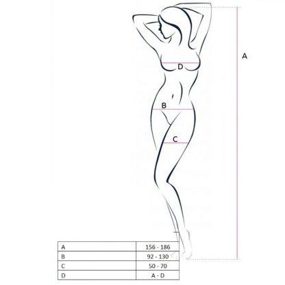 Passion Woman Bs050 Bodystocking Blanco Talla Unica