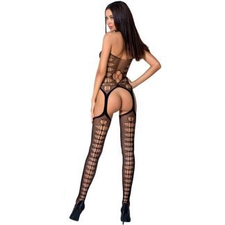 Passion Woman Bs059 Bodystocking Rojo Talla Unica