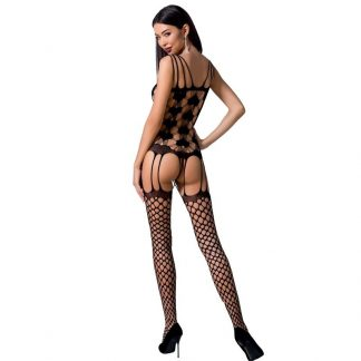 Passion Woman Bs067 Bodystocking Rojo Talla Unica