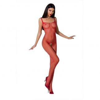 Passion Woman Bs071 Bodystocking Rojo Talla Unica