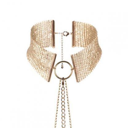 Dosir Motallique Collar Metolico Dorado