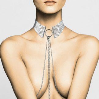 Dosir Motallique Collar Metolico Plateado
