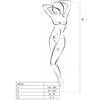 Passion Woman Bs018 Bodystocking Negro Talla Unica