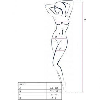 Passion Woman Bs021 Bodystocking Blanco Talla Unica