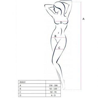 Passion Woman Bs022 Bodystocking Blanco Talla Unica