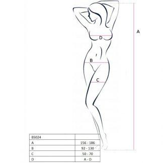 Passion Woman Bs024 Bodystocking Blanco Talla Unica