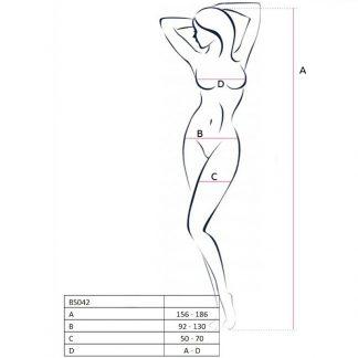 Passion Woman Bs042 Bodystocking Blanco Talla Unica