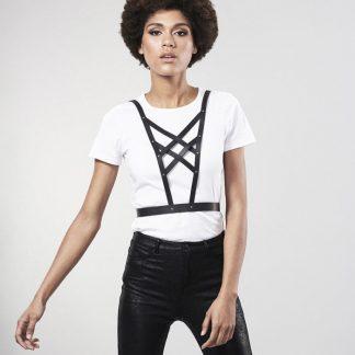 Bijoux Indiscrets Maze Arnes Cruzado Con Escote – Negro