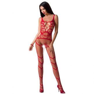 Passion Woman Bs058 Bodystocking Rojo Talla Unica