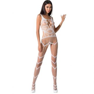 Passion Woman Bs058 Bodystocking Blanco Talla Unica