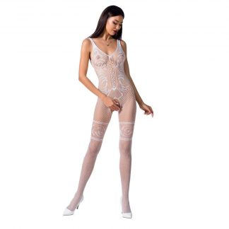 Passion Woman Bs069 Bodystocking Blanco Talla Unica