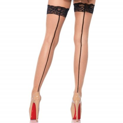 Leg Avenue Medias Nude & Negro Backseam Talla Unica