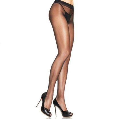 Leg Avenue Sheer Pantyhouse Lycra Negro Talla Unica