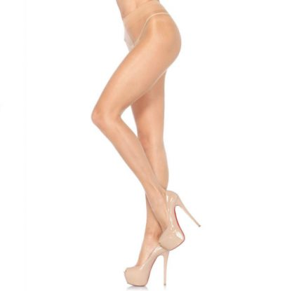 Leg Avenue Sheer Pantyhouse Lycra Beige Talla Unica