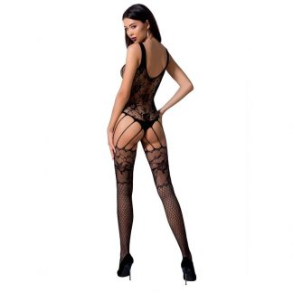 Passion Woman Bs074 Bodystocking Talla Unica Negro