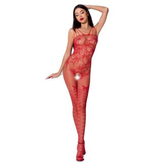 Passion Woman Bs076 Bodystocking Talla Unica Rojo