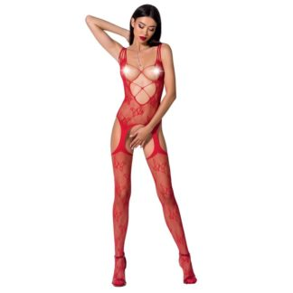 Passion Woman Bs075 Bodystocking Talla Unica Rojo