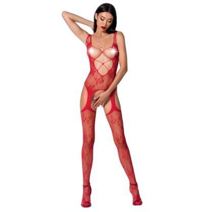 Passion Woman Bs075 Bodystocking Talla Unica Rojo
