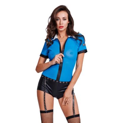 Le Frivole – 05005 Body Policia Sexy Con Cremallera